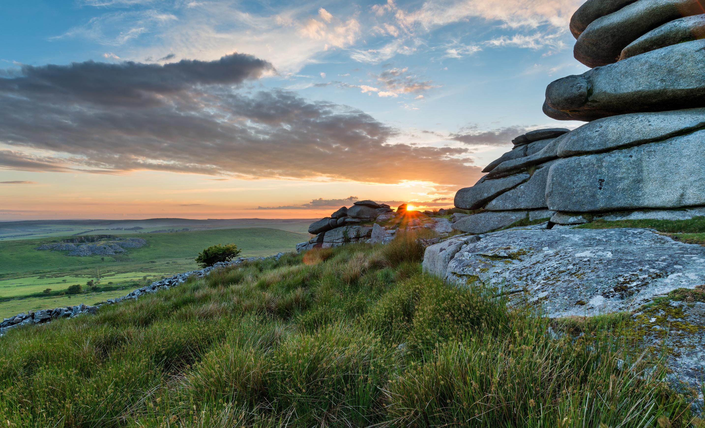 Bodmin Moor, Cornwall, at Sunset